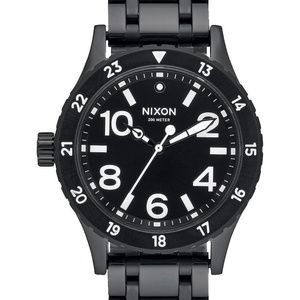 NWT NIXON 38-20 Blk Stainless Steel Watch  A410756